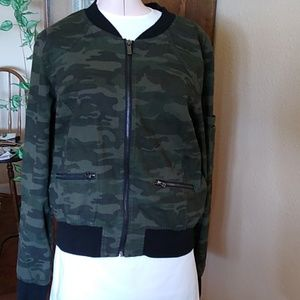 Sanctuary Camo Bomber Jacket Size S